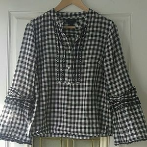NEW J. Crew 100% Cotton Bell Sleeve Blouse